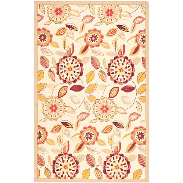 Safavieh Chelsea Floral Rug - 2.8' x 4.8' - Wool - Ivory/Taupe