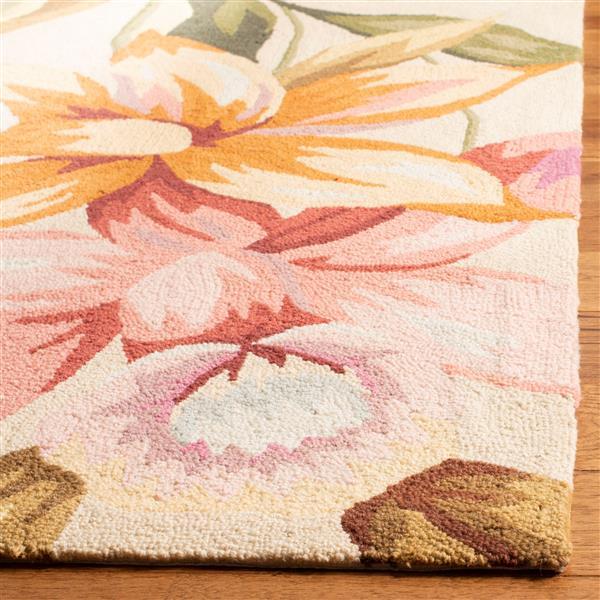 Safavieh Chelsea Floral Rug - 2.5' x 4' - Wool - Ivory