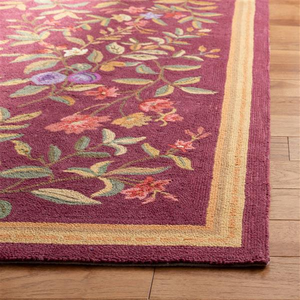 Safavieh Chelsea Floral Rug - 1.7' x 2.5' - Wool - Burgundy