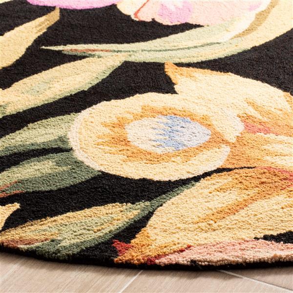 Safavieh Chelsea Floral Rug - 2.8' x 4.8' - Wool - Black
