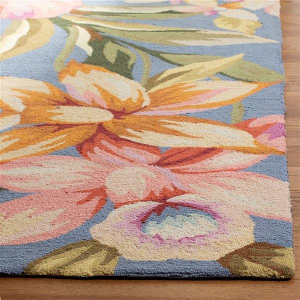 Safavieh Chelsea Floral Rug - 2.5' x 6' - Wool - Blue