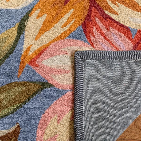 Safavieh Chelsea Floral Rug - 4' x 4' - Wool - Blue