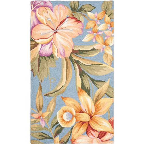 Safavieh Chelsea Floral Rug - 2.8' x 4.8' - Wool - Blue