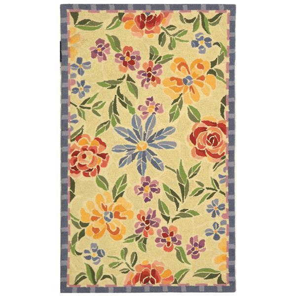 Safavieh Chelsea Floral Rug - 1.7' x 2.5' - Wool - Ivory