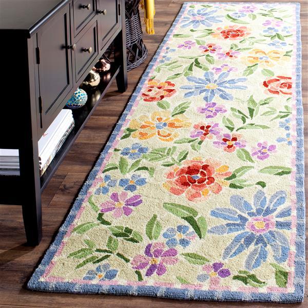 Safavieh Chelsea Floral Rug - 2.5' x 6' - Wool - Ivory