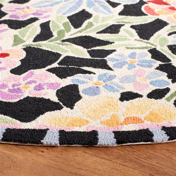 Safavieh Chelsea Floral Rug - 4' x 4' - Wool - Black