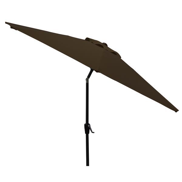 Corriveau Patio Umbrella Octogonal Fabric Top - Brown - 8.5'