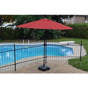 Parasol de patio en tissu octogonal, Rouge, 8.5'