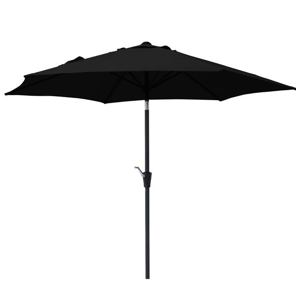 Corriveau Patio Umbrella Octogonal Fabric Top - Black - 8.5'