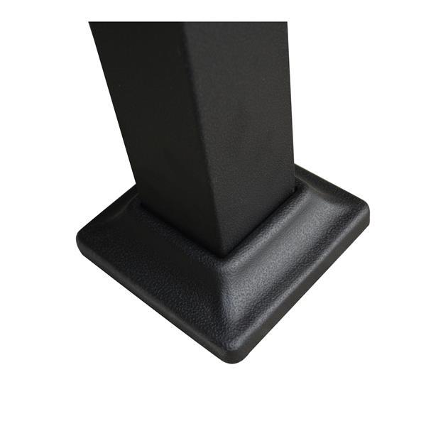 Pergola Vienna avec toit retractable, Noir, 10'x10'