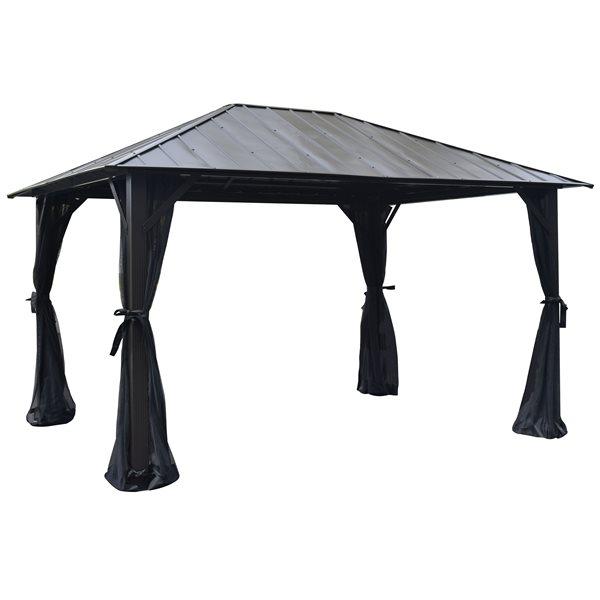 Corriveau Seoul Gazebo with Galvanised-steel roof - 10'x14'