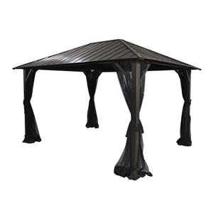 Corriveau Seoul Gazebo with Galvanised-steel roof - 10'x14'