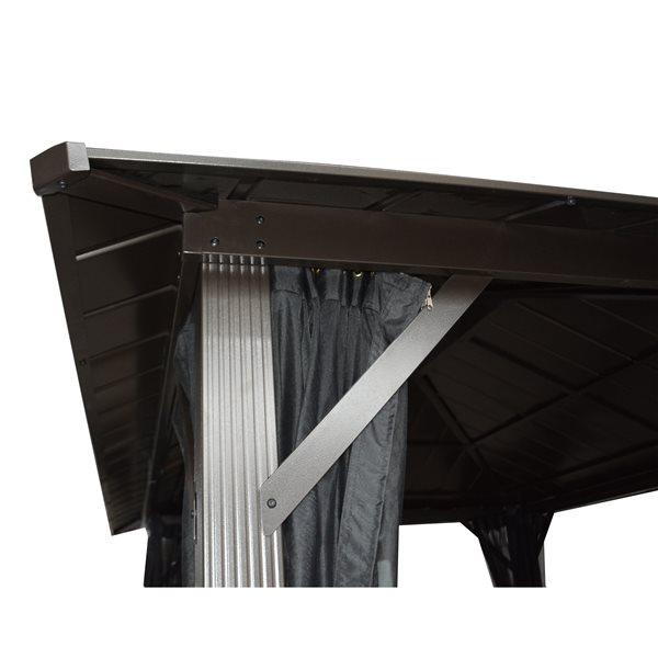 Gazebo Seoul avec toit en Acier Galvanisé, 10'x10'