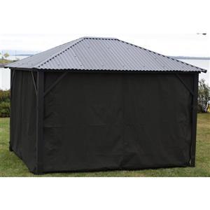 Side curtains for all Corriveau Gazebo - Black - 10 x 12