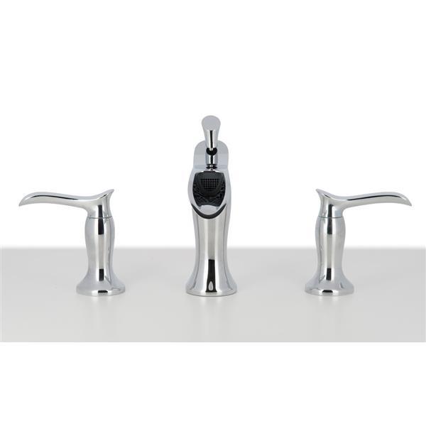 "Ancona Eleganzia Series Widespread Bathroom Faucet - Chrome - 8"""