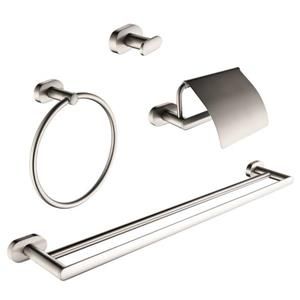 Ancona Aria 4-piece Bathroom Accessory Set - Brushed Nickel