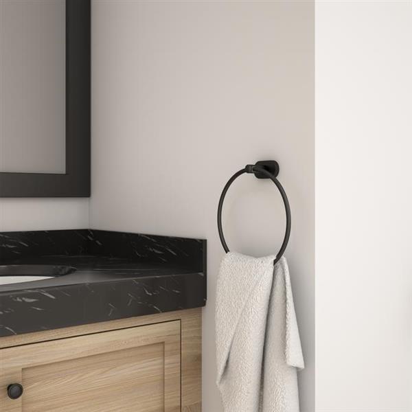 Ensemble de salle de bain 4 mcx Aria de Ancona, Noir mat