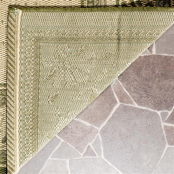 "Safavieh Courtyard Border Rug - 2' 3"" x 6' 7"" - Natural/Olive"