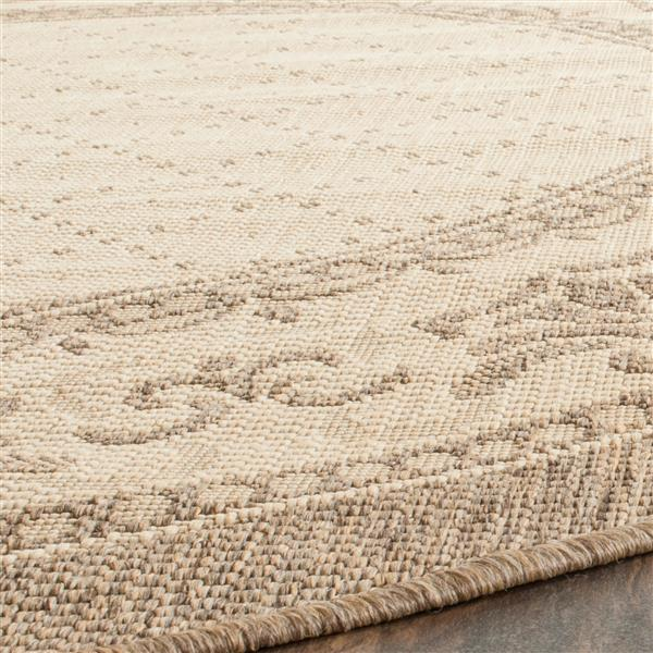 "Safavieh Courtyard Border Rug - 2' 3"" x 10' - Natural/Brown"