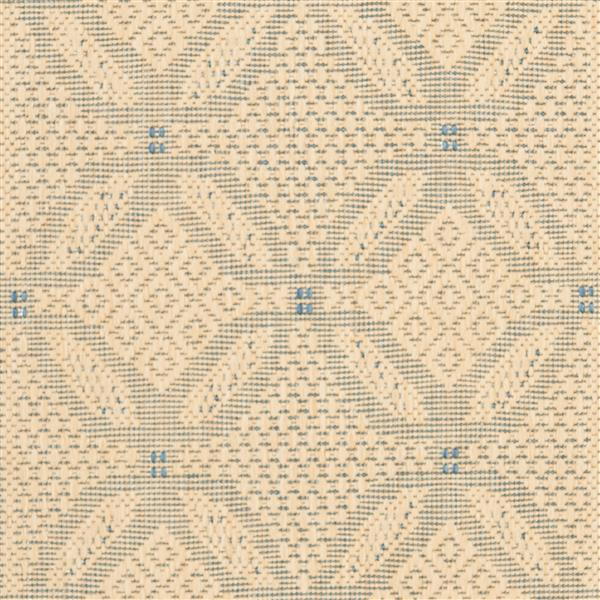 "Safavieh Courtyard Border Rug - 2' 3"" x 10' - Natural/Blue"