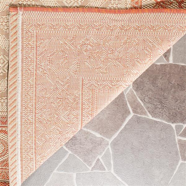 "Safavieh Courtyard Border Rug - 2' 7"" x 5' - Natural/Terra"