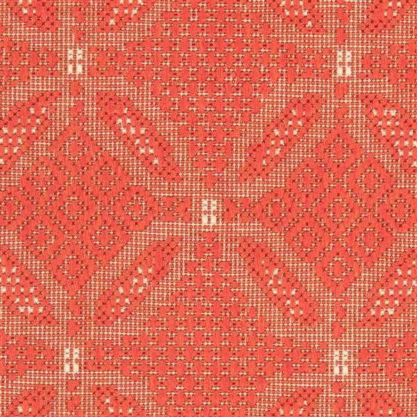 "Safavieh Courtyard Border Rug - 2' 3"" x 6' 7"" - Red/Natural"