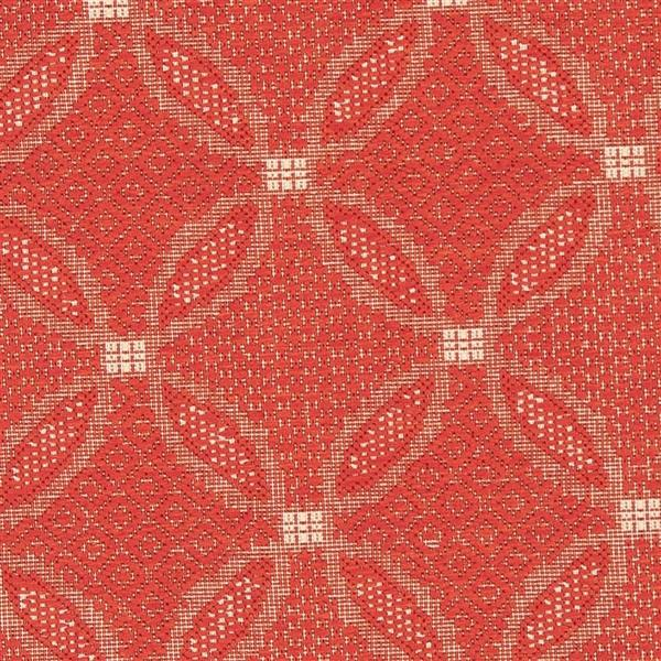 "Safavieh Courtyard Border Rug - 5' 3"" x 5' 3"" - Red/Natural"
