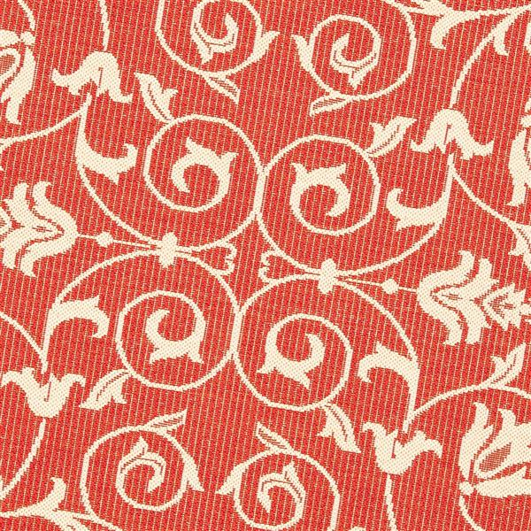 """Safavieh Courtyard Floral Rug - 4' x 5' 7"""" - Red/Natural"""