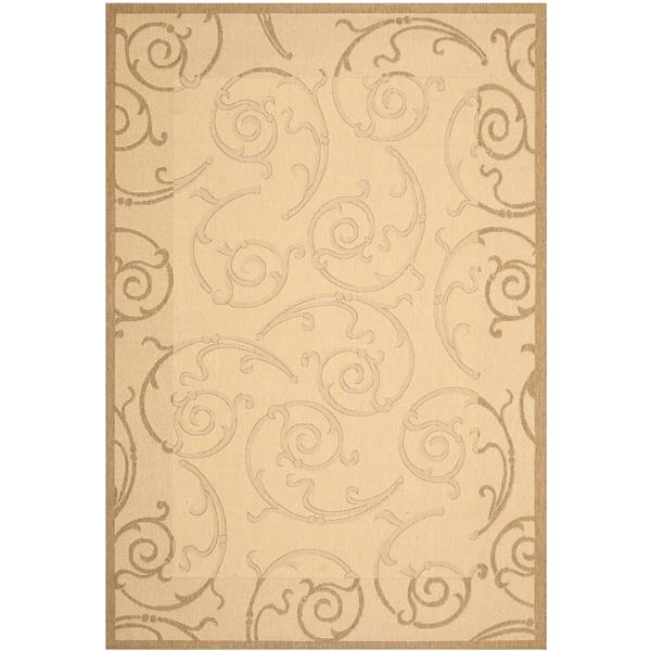 "Safavieh Courtyard Floral Rug - 5' 3"" x 7' 7"" - Natural/Brown"
