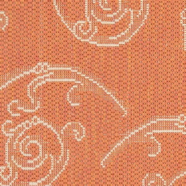 "Safavieh Courtyard Floral Rug - 2' 3"" x 10' - Terracotta/Natural"