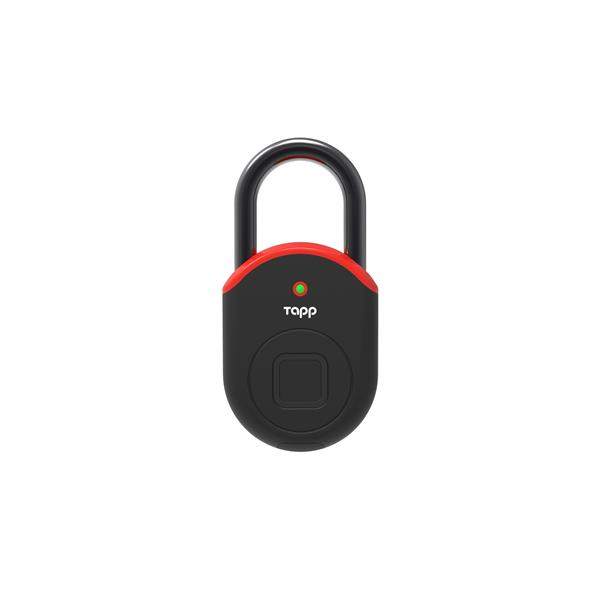 Tapplock Lite Smart Fingerprint Scan Padlock - Red SETLL05AR