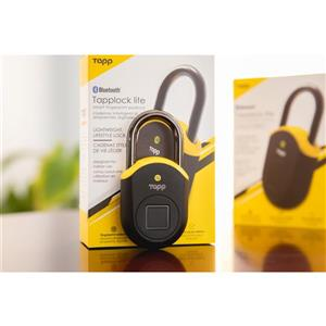 Tapplock Lite Smart Fingerprint Scan Padlock - Yellow