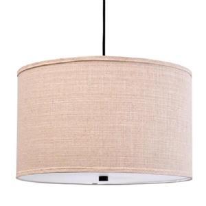 Luminaire suspendu avec abat-jour en tissu beige, 96