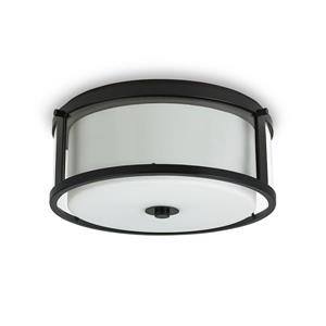 Cresswell Oil Rubbed Bronze Opal Glass Flush Mount
