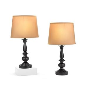 Lampe de table Cresswell, Bronze et beige,  Ensemble de 2