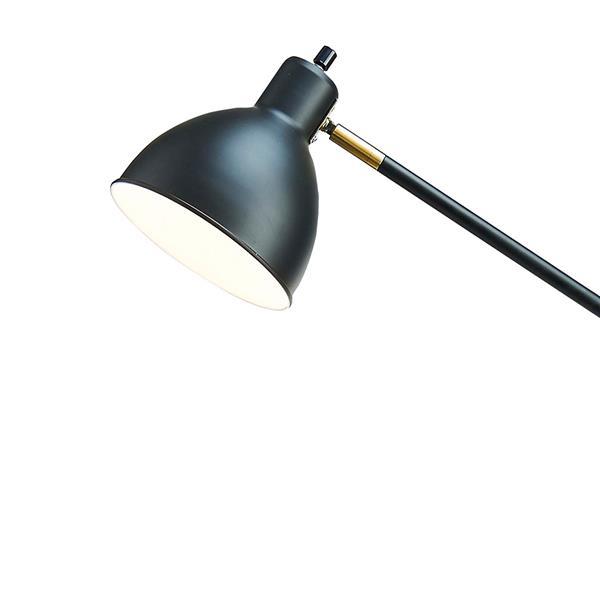 "Lampadaire Cresswell réglable en métal, Noir, 54.5"""