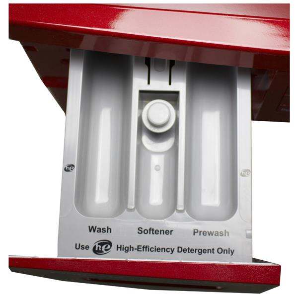 Equator 24-in 1.57-cu ft Front-Load Combination Washer and Dryer (Red)