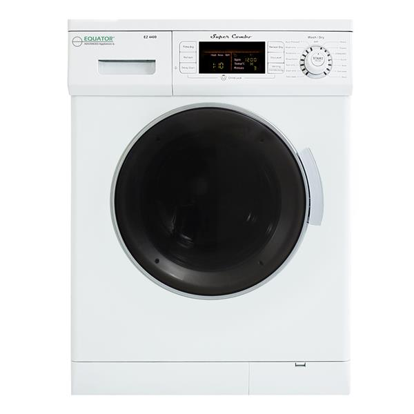 Equator 24-in 1.57-cu ft Front-Load Combination Washer and Dryer (White)