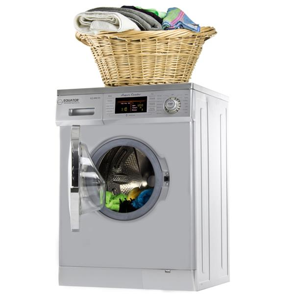 Equator 24-in 1.57-cu ft Front-Load Combination Washer and Dryer (Silver)