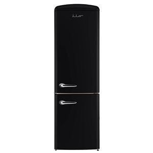Chambers 24-in 12-cu ft. Bottom Mount Retro Refrigerator (Black)