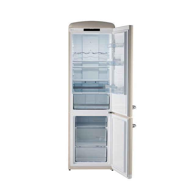 Chambers 24-in 12-cu ft. Bottom Mount Retro Refrigerator - Champagne