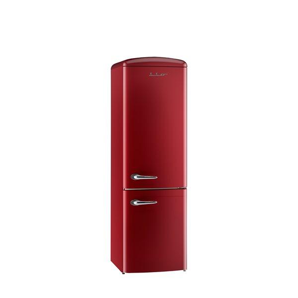 """Réfrigérateur Rétro, 12 pi. cu, Bordeaux, 24"""""""