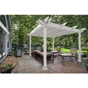 Preston Round-Post Louvered Pergola - 121