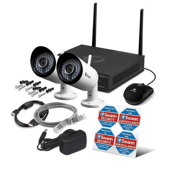 Système de surveillance NVR 1080P Wifi à 4 CN avec 2 caméras