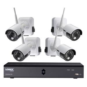 Lorex Wire Free 1TB DVR Security System w 4 Security Cameras