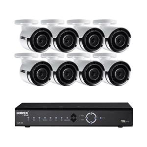 Lorex 8 CH 4K 2TB NVR system with 8 4MP IPSecurity Cameras
