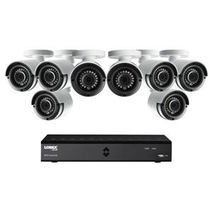 Lorex 8 CH 1TB HD DVR Security System 8 2MP Security Cameras