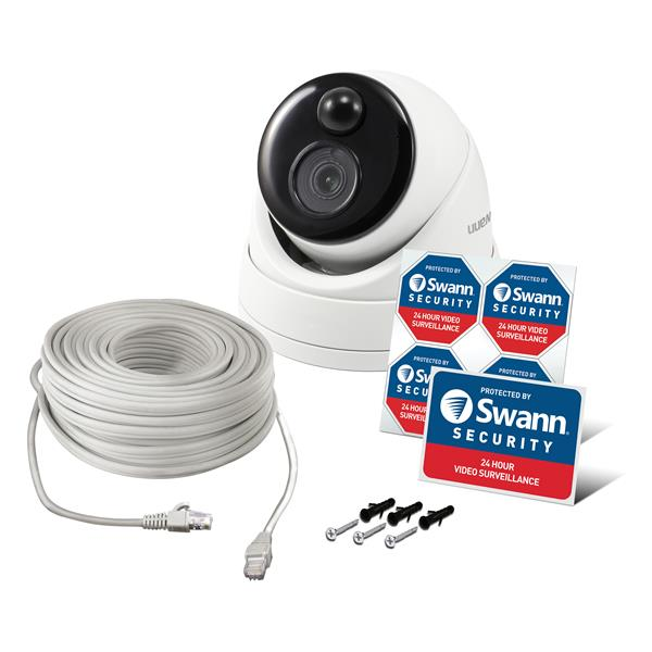 Swann 5MP IP True Detect Dome Security Camera - White