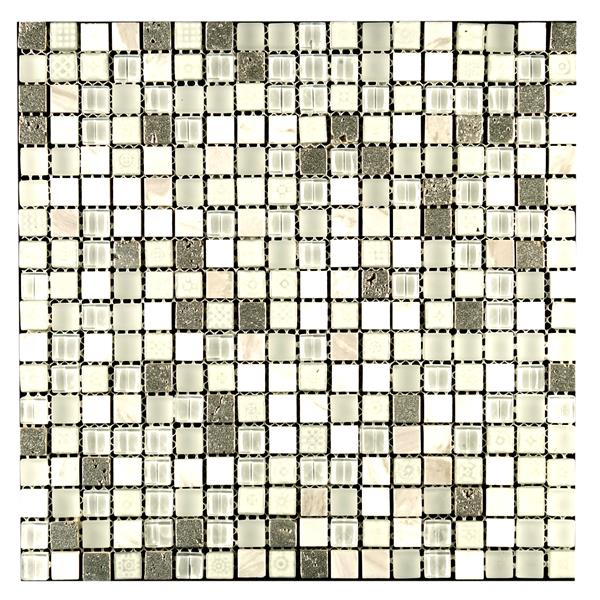 Mono Serra Group Glass Mosaic 12'' x 12'' Maya Snow 10 sq.ft. / case