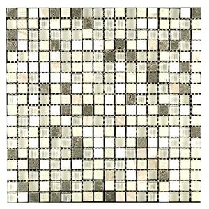 "Mosaique de Verre Maya Snow,  12"" x 12"", 10 pi2 / Boite"